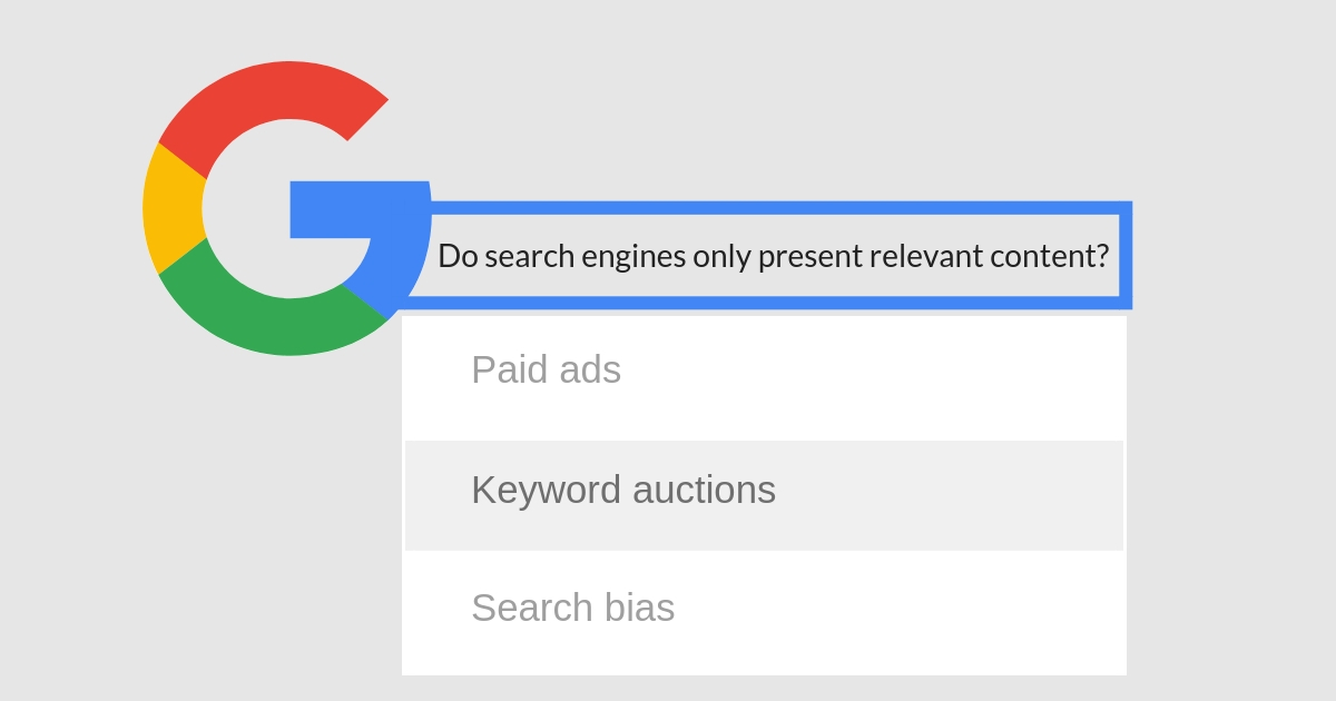 Should the Google Search Engine Be Answerable To Competition