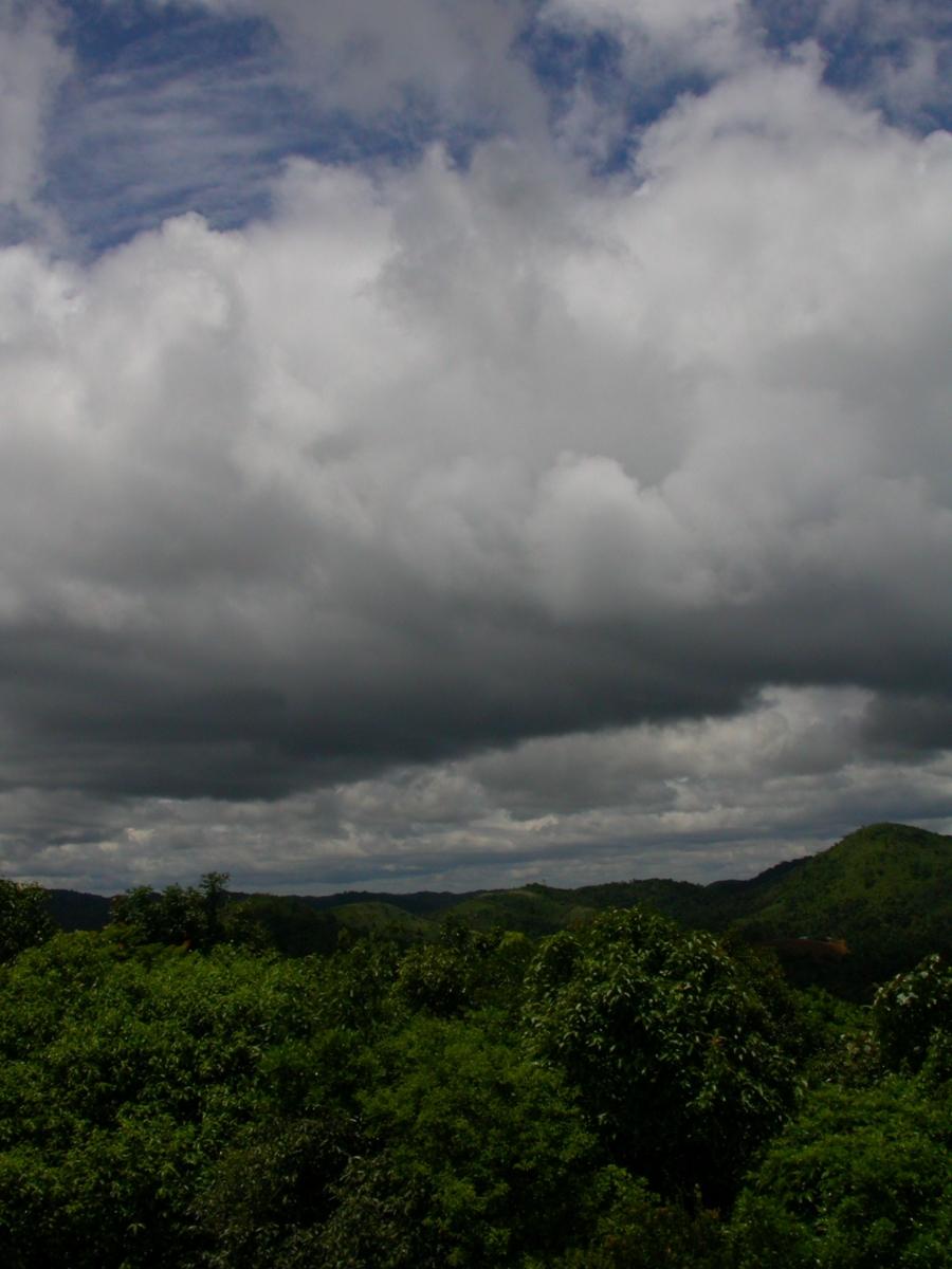 Monsoon clouds over Gurukula