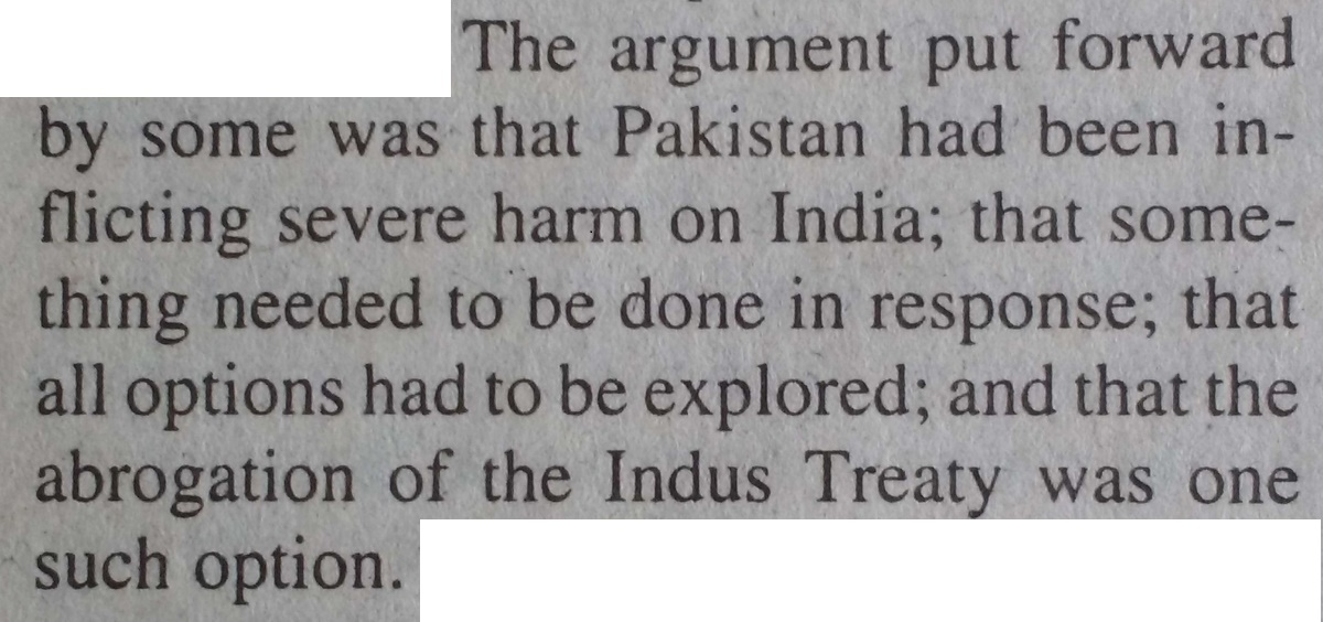 A 2002 Article About Cancelling The Indus Waters Treaty Reads Like