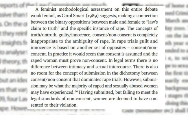 Rape, Female Bodies, and Language in the Courtroom