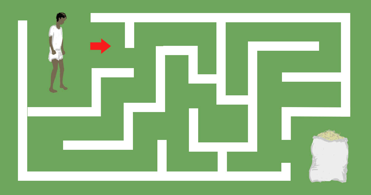 the aadhaar game can you survive this maze to reach your food