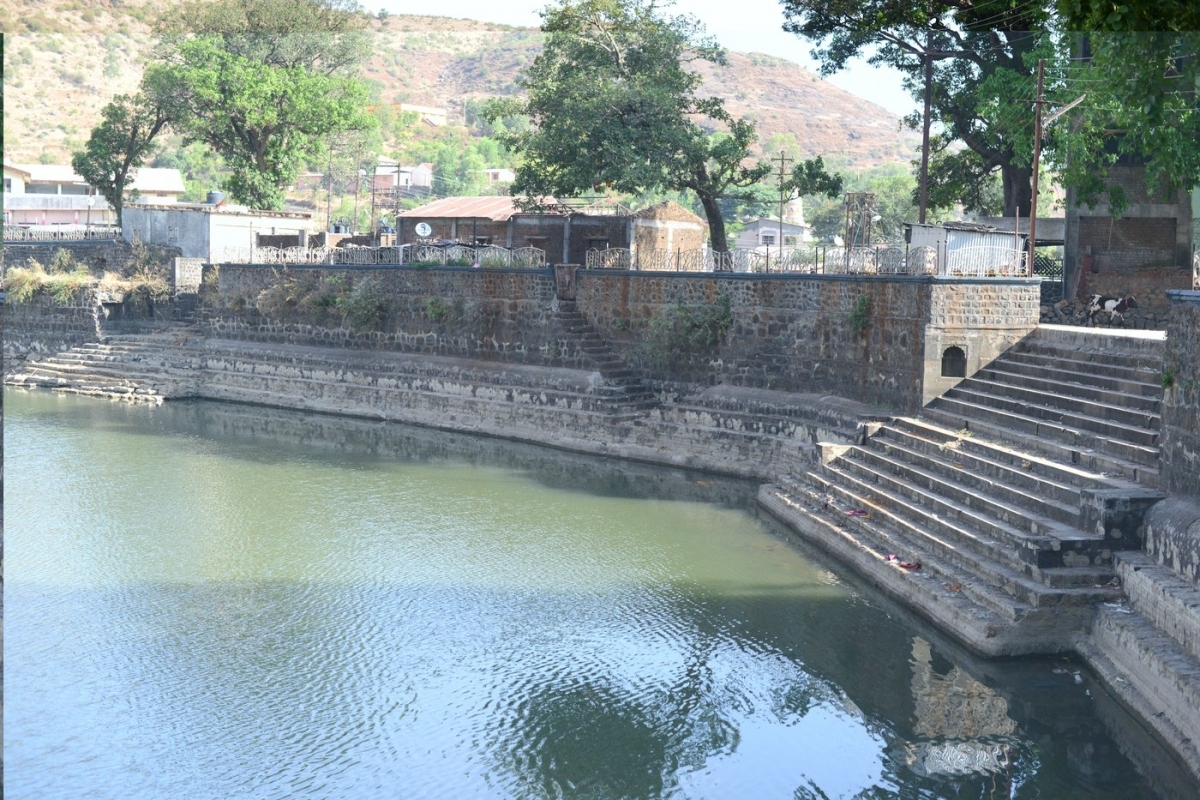 The Gangasagar At The Trimbakeshwar Temple Is Way Below Its Normal Levels  Even Though It Is The First Catchment Tank For The Godavari River